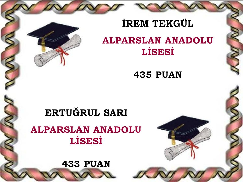 ALPARSLAN ANADOLU LİSESİ ALPARSLAN ANADOLU LİSESİ