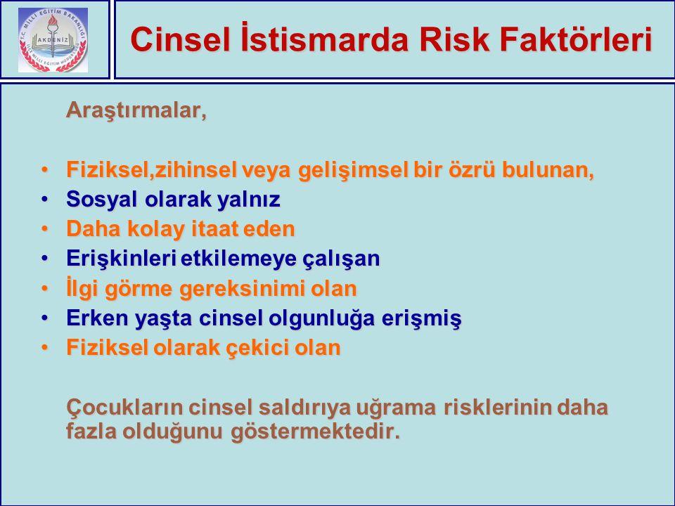 Cinsel İstismarda Risk Faktörleri