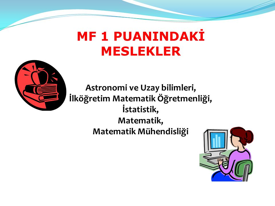 MF 1 PUANINDAKİ MESLEKLER