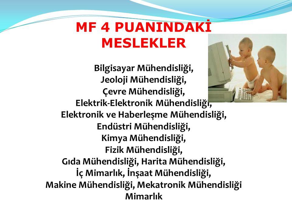MF 4 PUANINDAKİ MESLEKLER