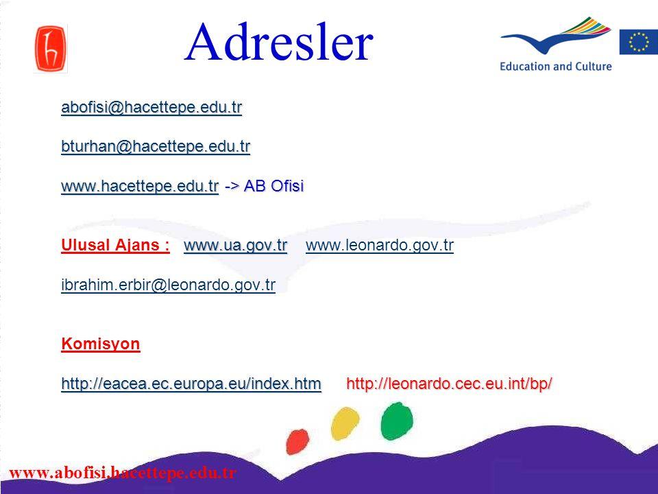 Adresler abofisi@hacettepe.edu.tr bturhan@hacettepe.edu.tr