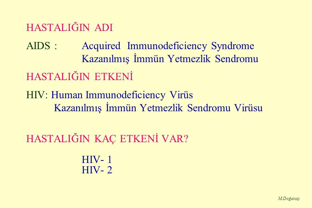 HASTALIĞIN KAÇ ETKENİ VAR HIV- 1 HIV- 2