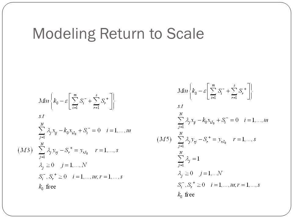 Modeling Return to Scale