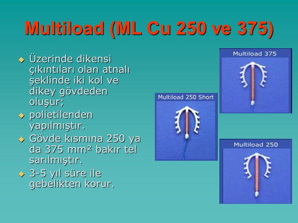 Multiload (ML Cu 250 ve 375) Üzerinde dikensi çıkıntıları olan atnalı şeklinde iki kol ve dikey gövdeden oluşur;