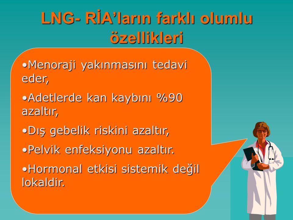 LNG- RİA'ların farklı olumlu özellikleri