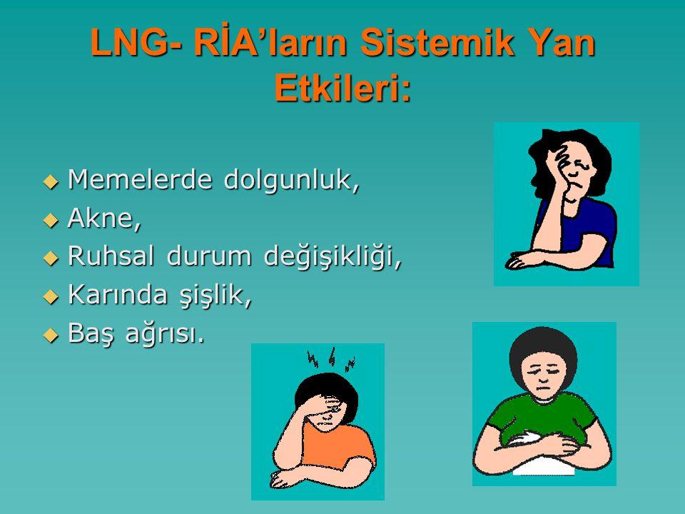 LNG- RİA'ların Sistemik Yan Etkileri: