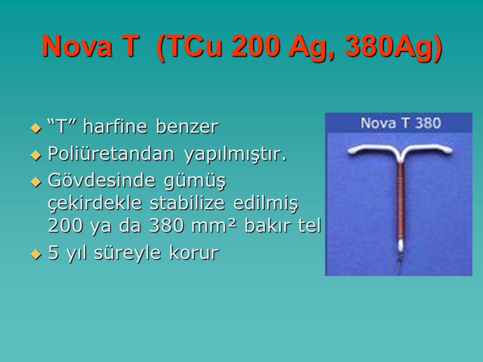 Nova T (TCu 200 Ag, 380Ag) T harfine benzer