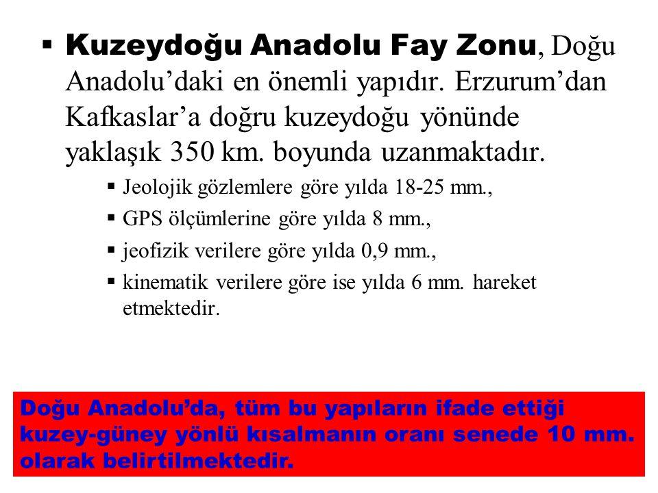 Kuzeydoğu Anadolu Fay Zonu, Doğu Anadolu'daki en önemli yapıdır