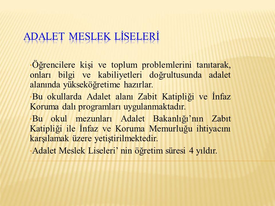 ADALET MESLEK LİSELERİ