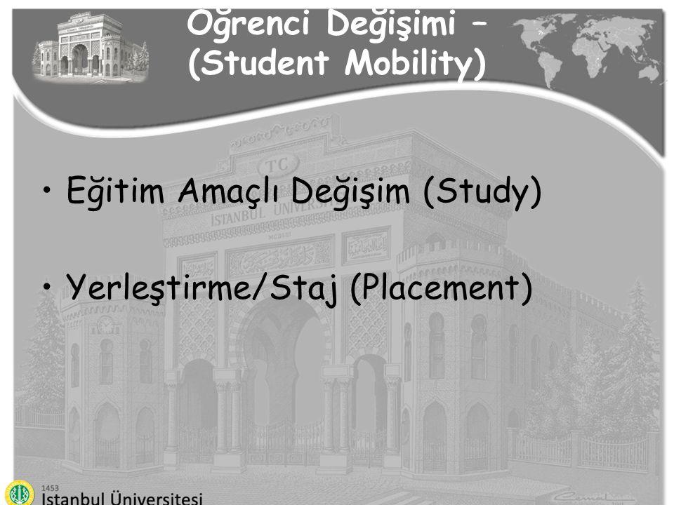 Öğrenci Değişimi – (Student Mobility)