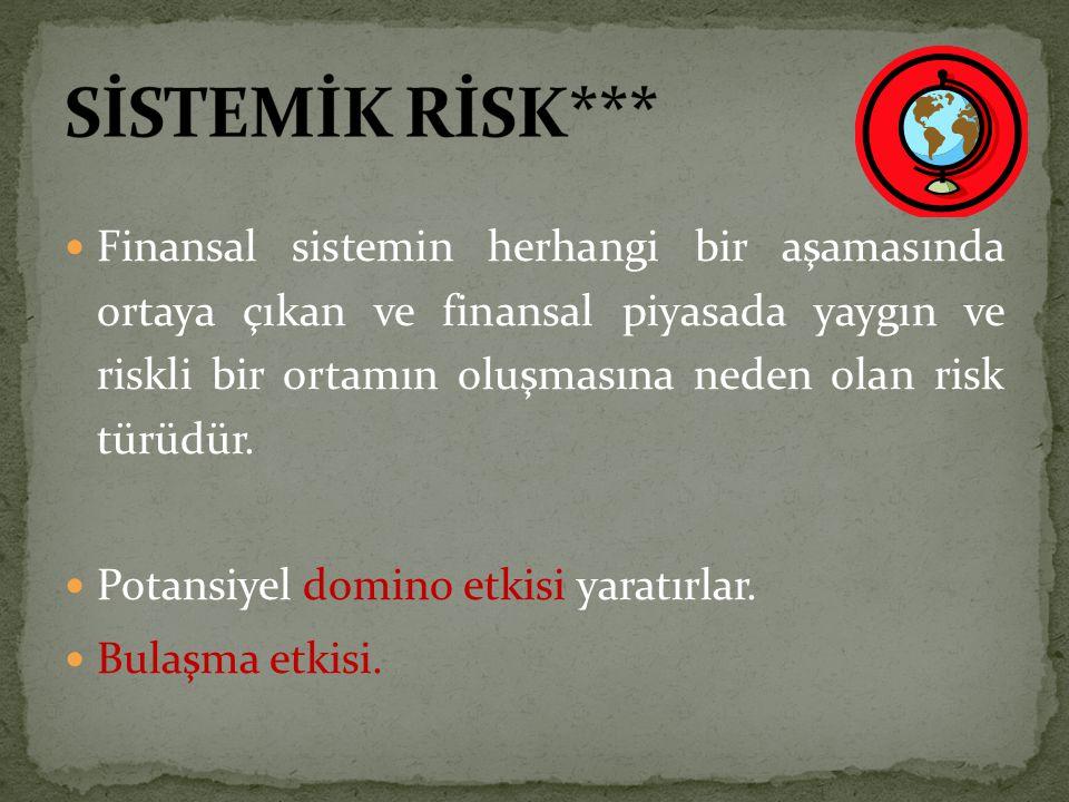 SİSTEMİK RİSK***