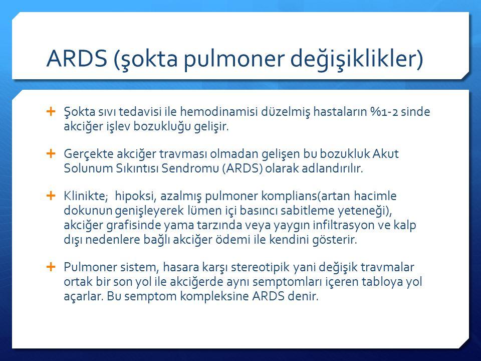ARDS (şokta pulmoner değişiklikler)