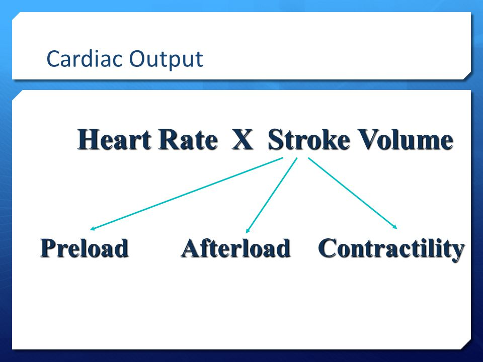 Heart Rate X Stroke Volume