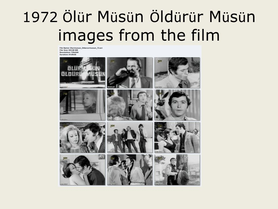 1972 Ölür Müsün Öldürür Müsün images from the film