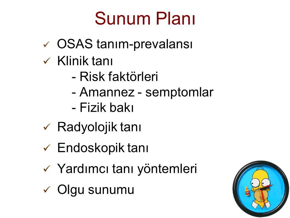 Sunum Planı Klinik tanı - Risk faktörleri - Amannez - semptomlar