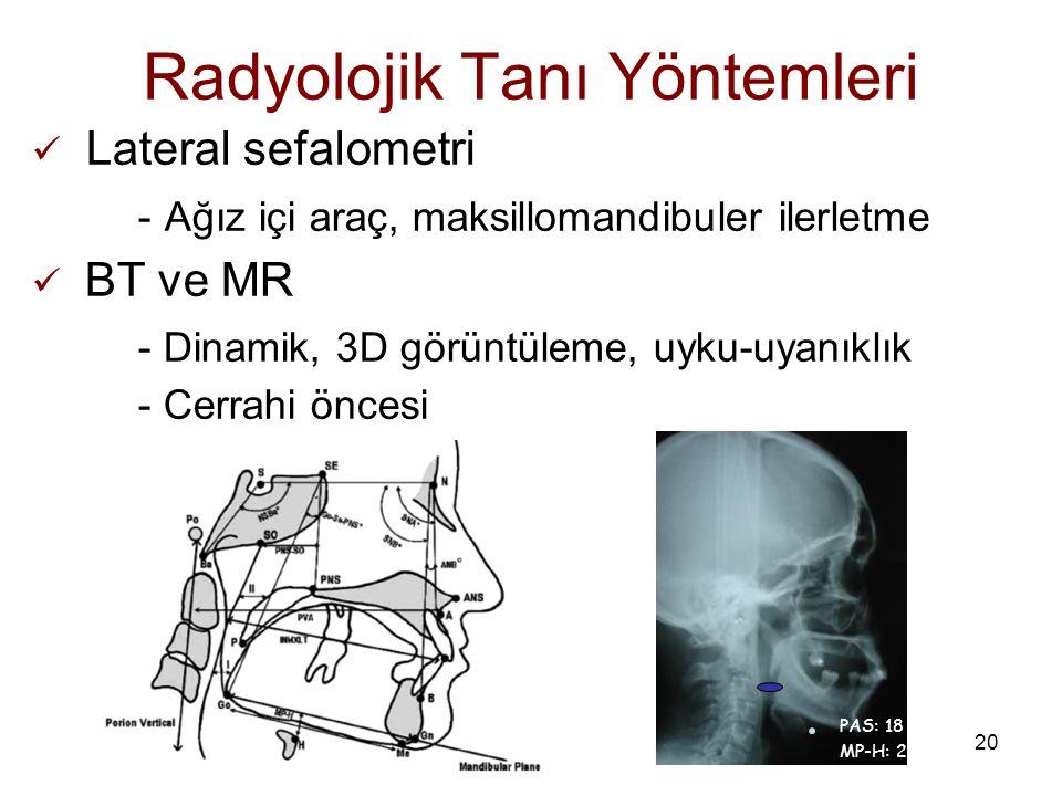 Radyolojik Tanı Yöntemleri