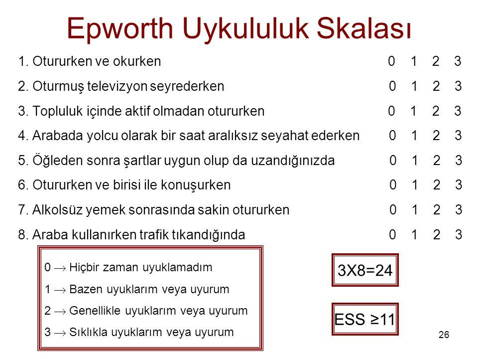 Epworth Uykululuk Skalası