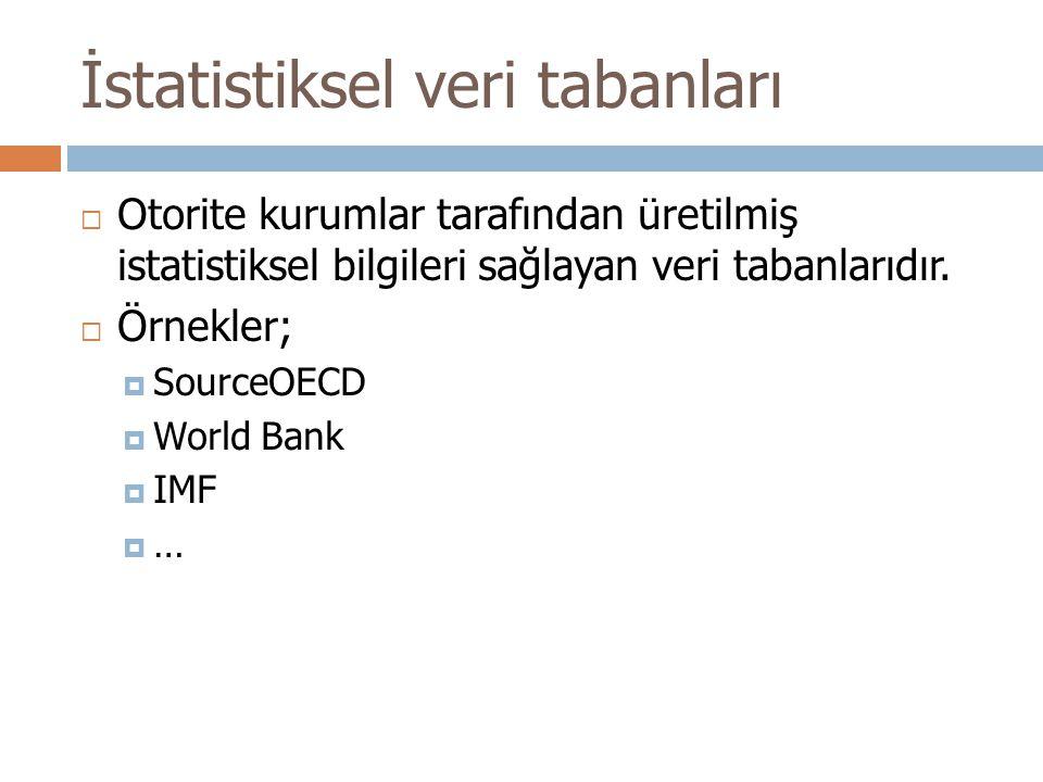 İstatistiksel veri tabanları