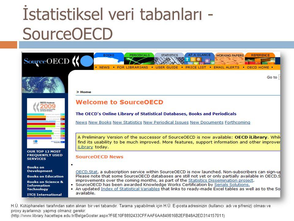 İstatistiksel veri tabanları - SourceOECD