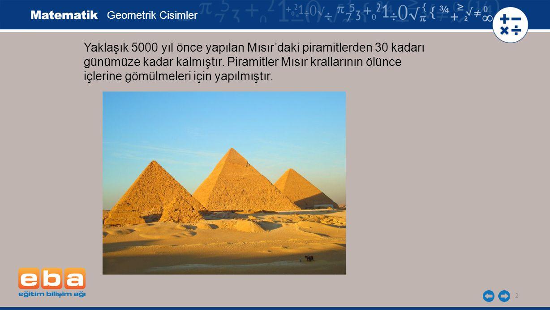 Yaklaşık 5000 yıl önce yapılan Mısır'daki piramitlerden 30 kadarı