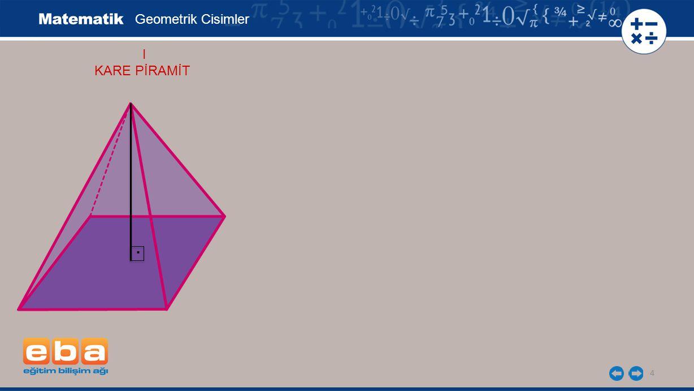 Geometrik Cisimler I KARE PİRAMİT .