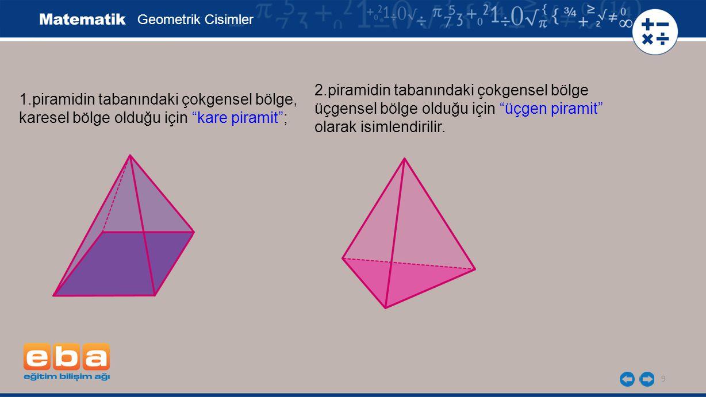 2.piramidin tabanındaki çokgensel bölge
