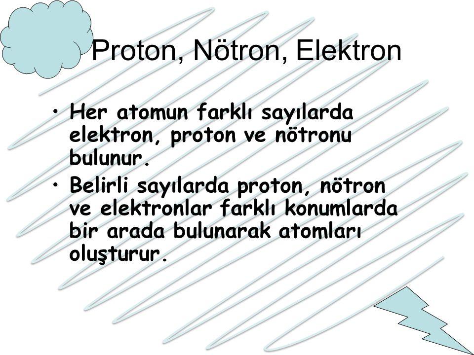 Proton, Nötron, Elektron