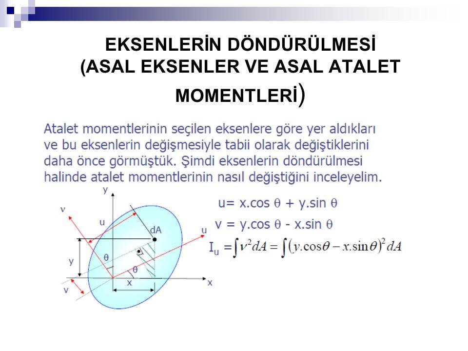 EKSENLERİN DÖNDÜRÜLMESİ (ASAL EKSENLER VE ASAL ATALET MOMENTLERİ)
