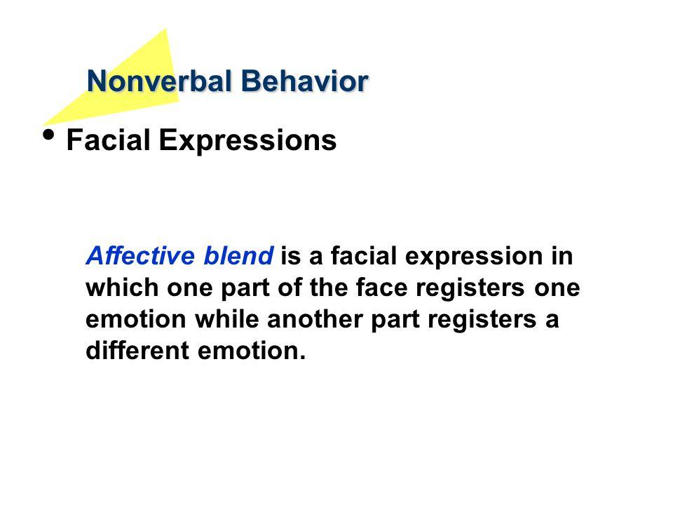 Nonverbal Behavior Facial Expressions