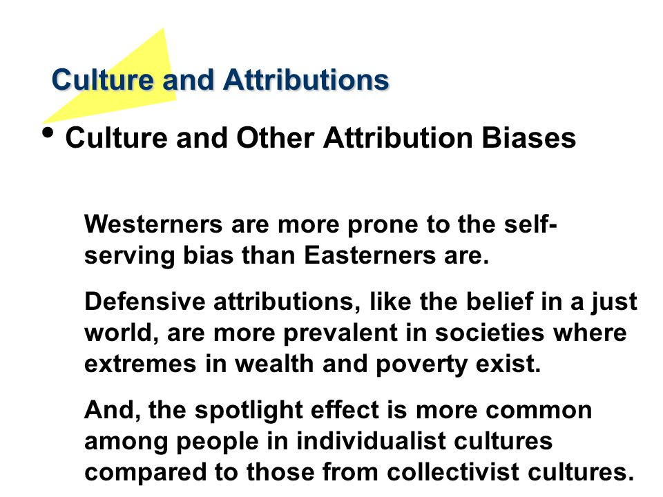 Culture and Attributions