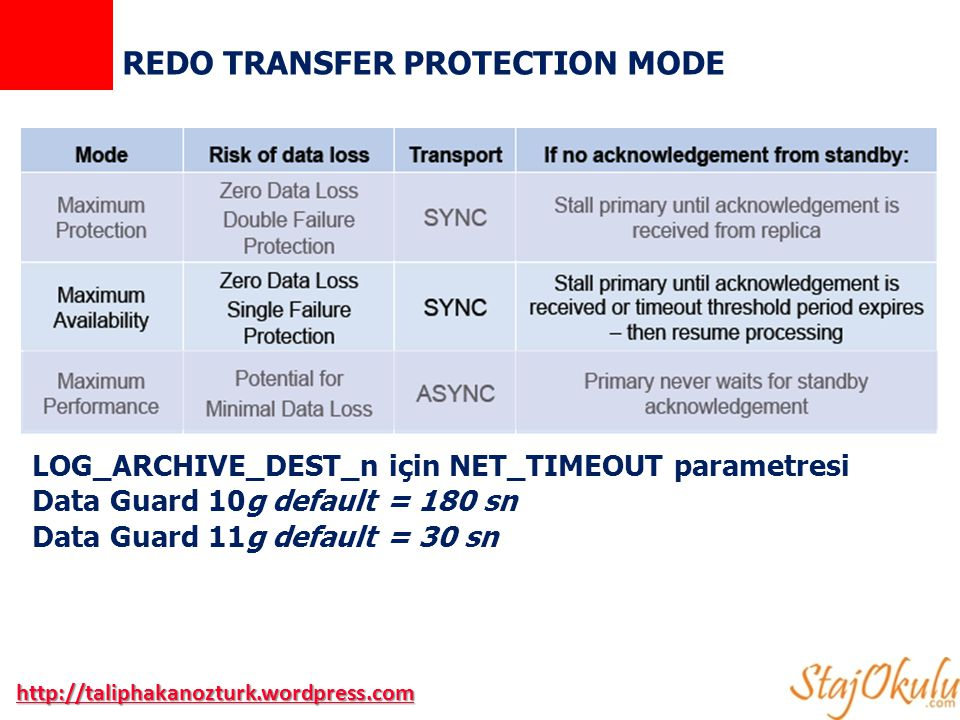 REDO TRANSFER PROTECTION MODE