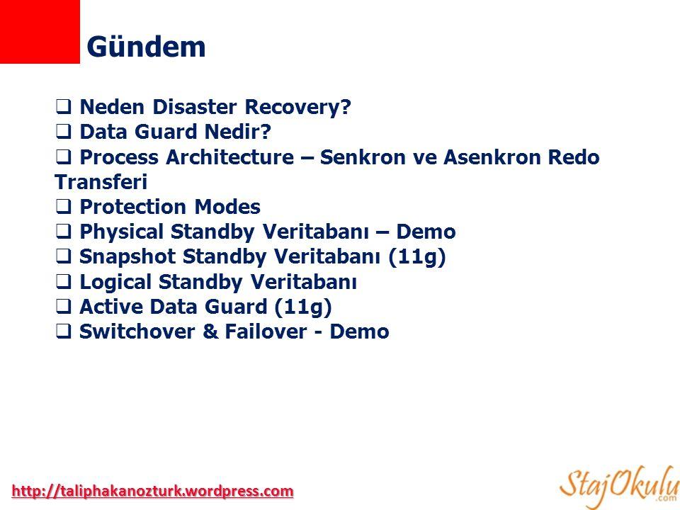 Gündem Neden Disaster Recovery Data Guard Nedir