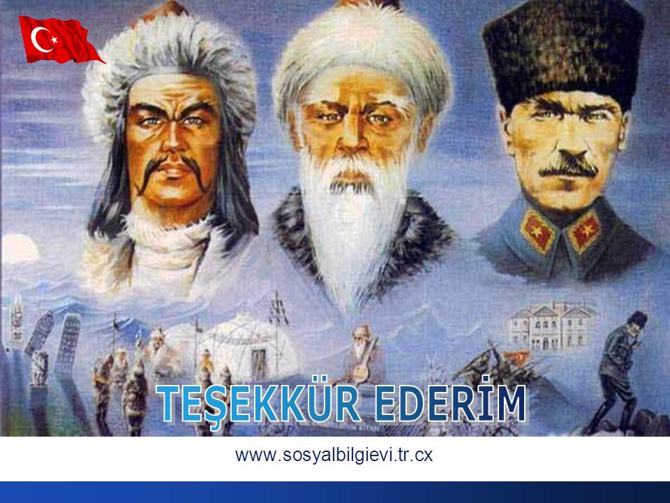 TEŞEKKÜR EDERİM www.sosyalbilgievi.tr.cx