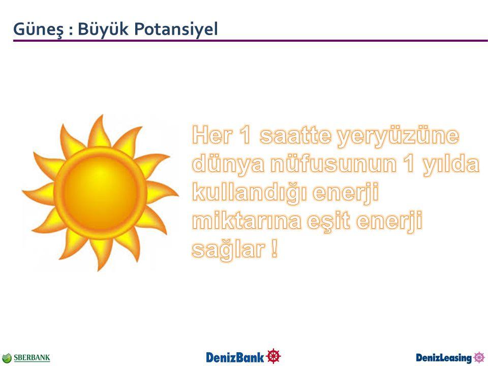 Güneş : Büyük Potansiyel