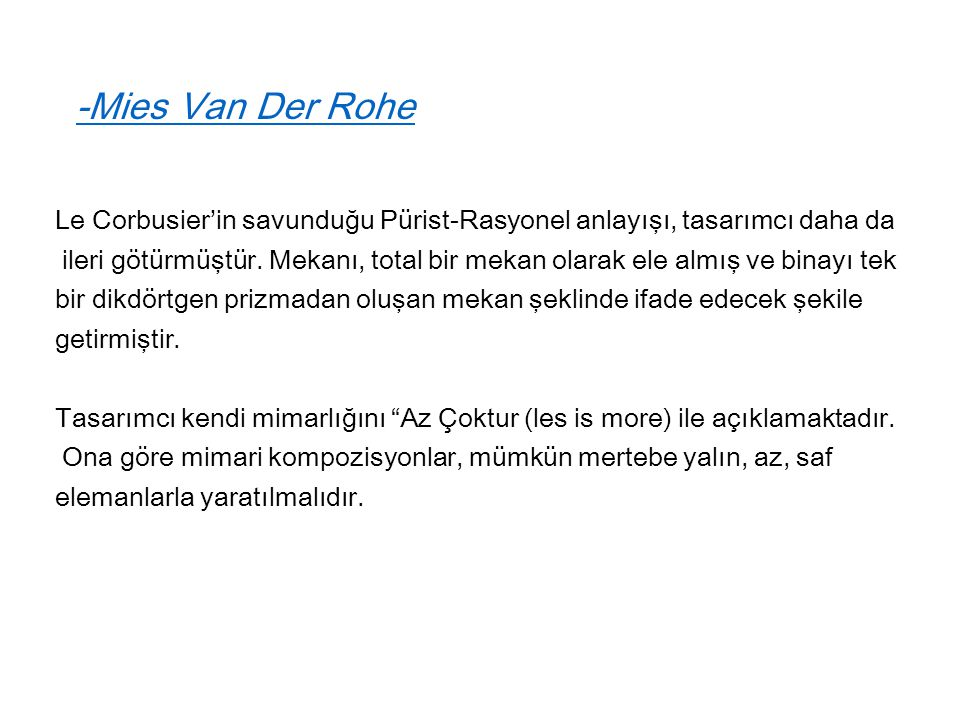 -Mies Van Der Rohe