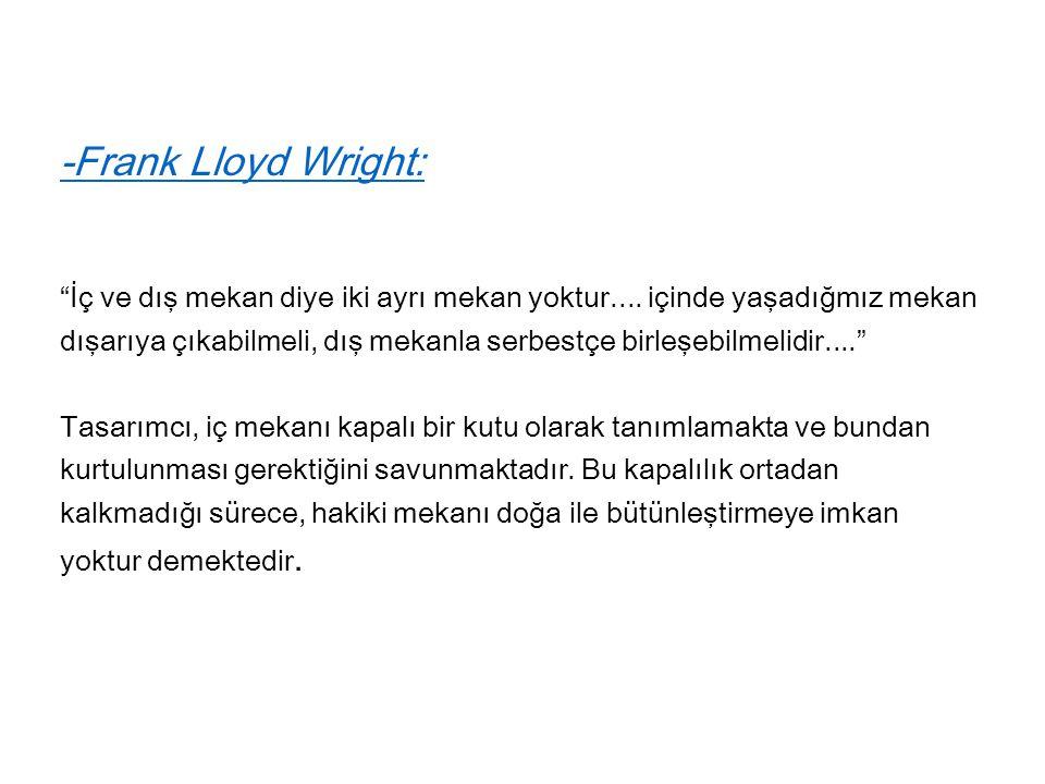 -Frank Lloyd Wright: