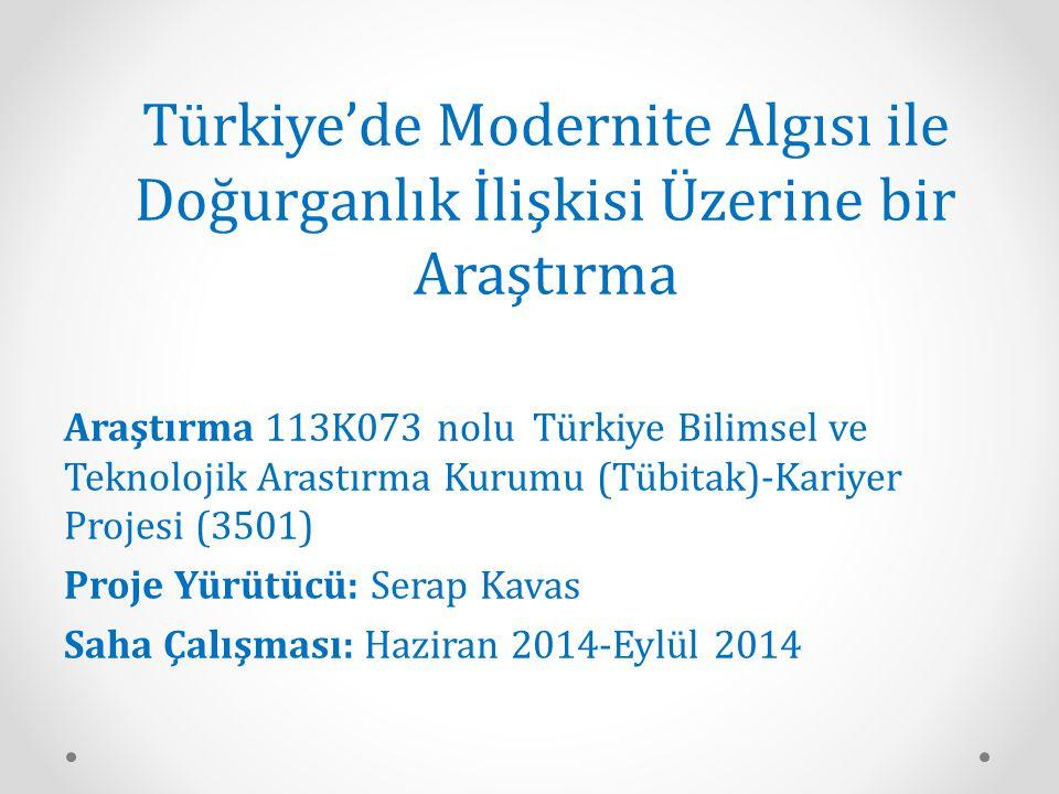 Türkiye'de Modernite Algısı ile Doğurganlık İlişkisi Üzerine bir Araştırma