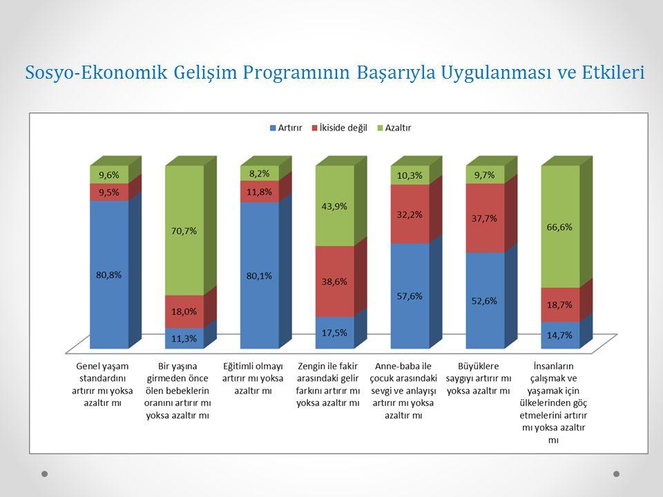 Sosyo-Ekonomik Gelişim Programının Başarıyla Uygulanması ve Etkileri