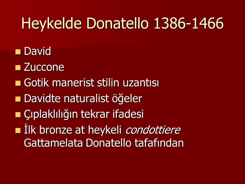 Heykelde Donatello 1386-1466 David Zuccone