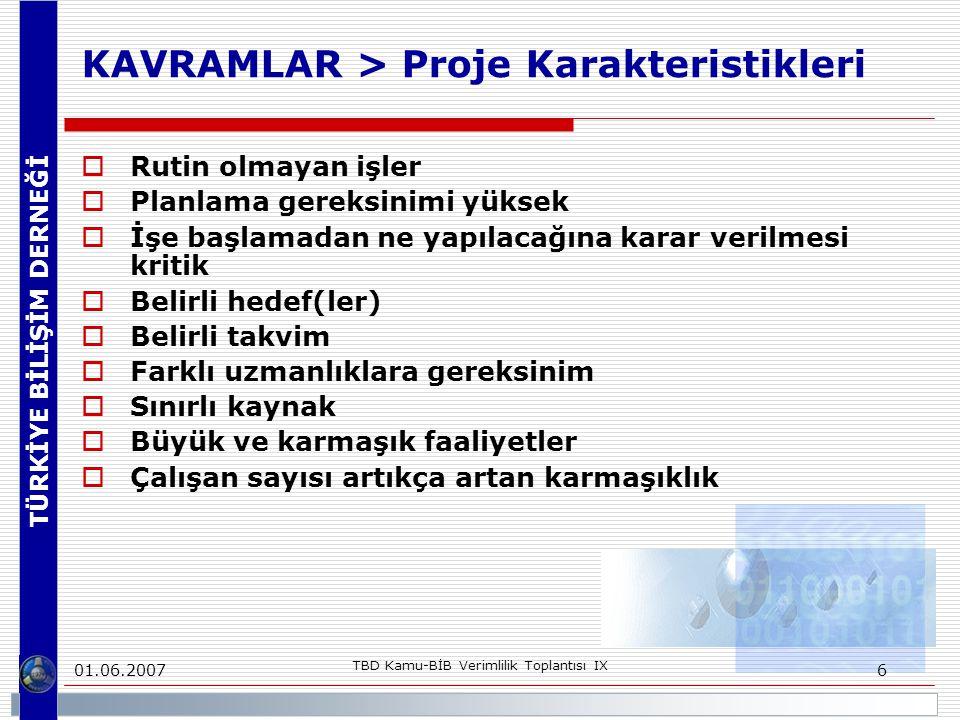 KAVRAMLAR > Proje Karakteristikleri