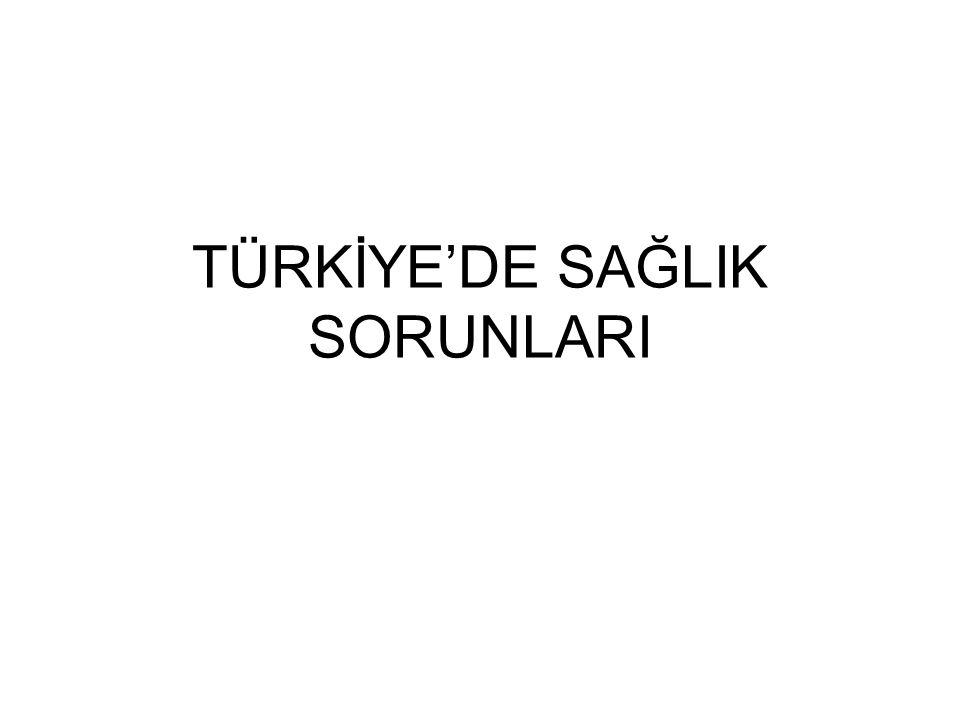 TÜRKİYE'DE SAĞLIK SORUNLARI