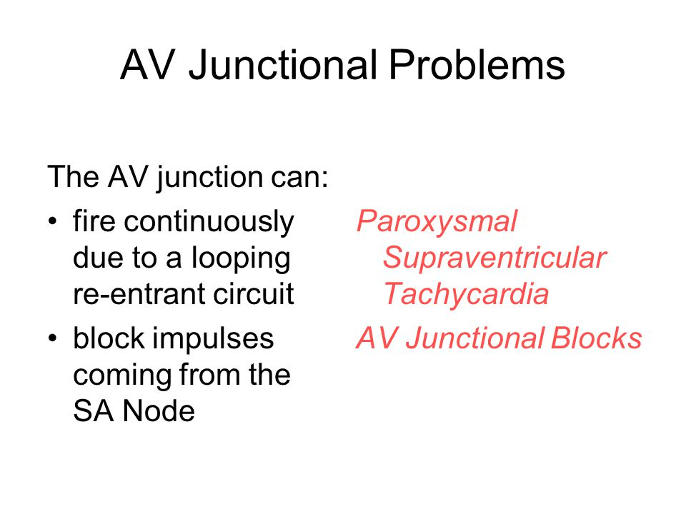 AV Junctional Problems