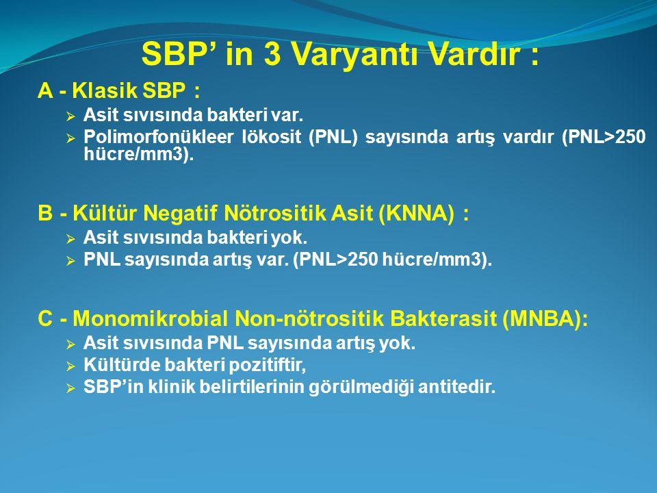 SBP' in 3 Varyantı Vardır :
