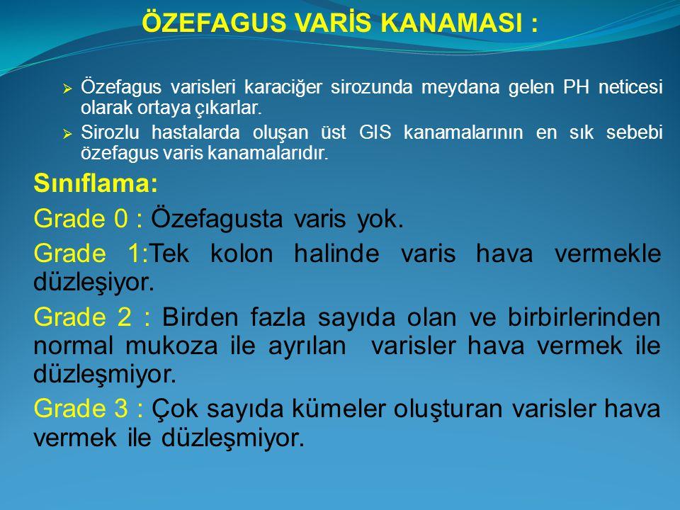ÖZEFAGUS VARİS KANAMASI :