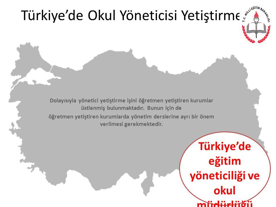 Türkiye'de Okul Yöneticisi Yetiştirme