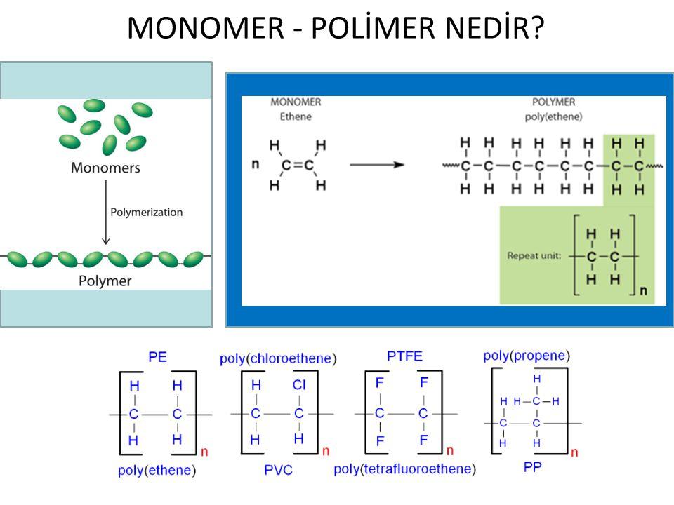 MONOMER - POLİMER NEDİR