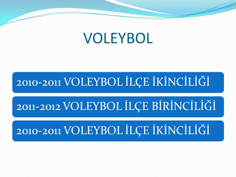 VOLEYBOL 2010-2011 VOLEYBOL İLÇE İKİNCİLİĞİ