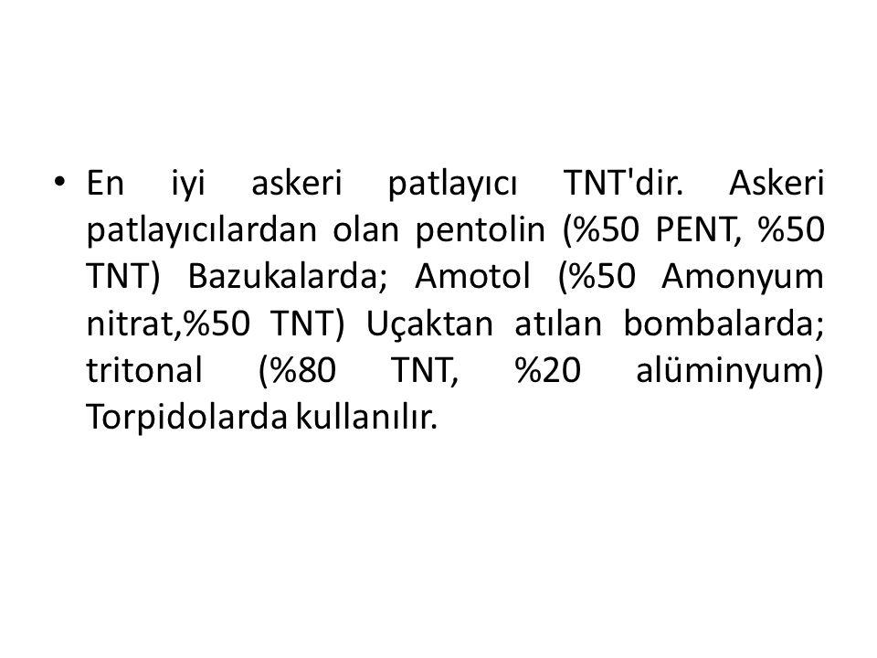 En iyi askeri patlayıcı TNT dir