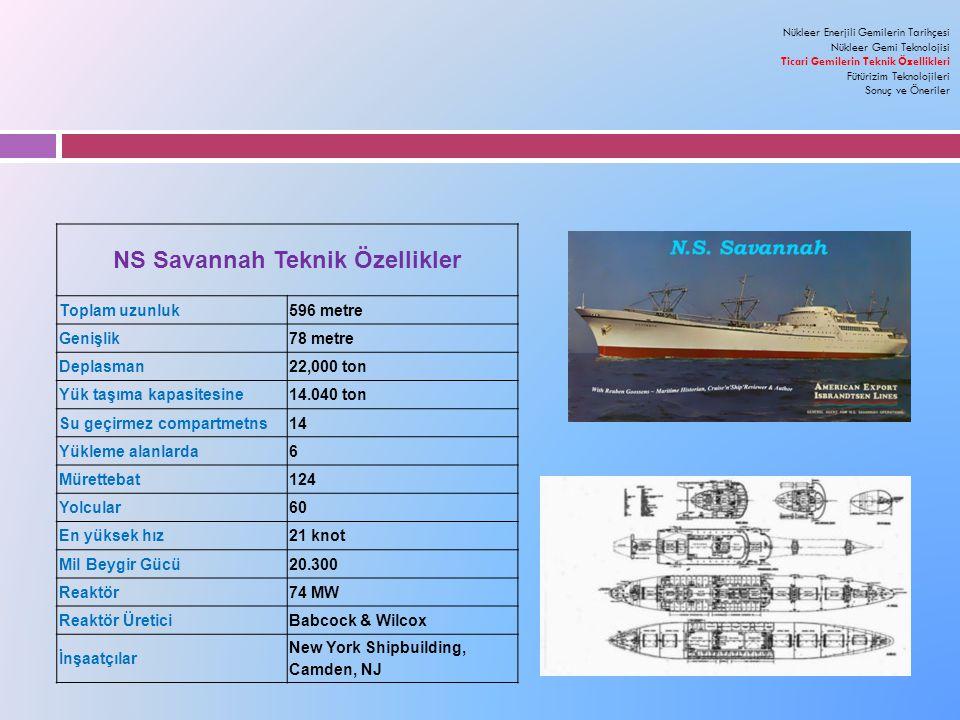 NS Savannah Teknik Özellikler