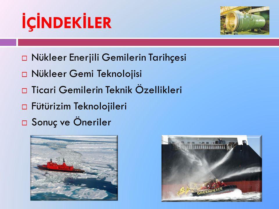İÇİNDEKİLER Nükleer Enerjili Gemilerin Tarihçesi